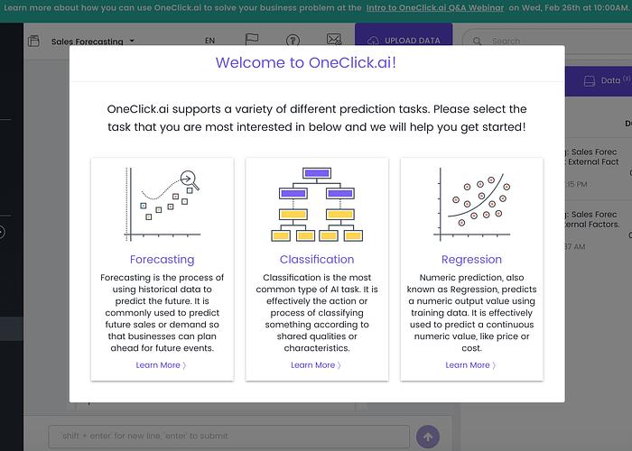 OneClick Enterprise AutoML Platform